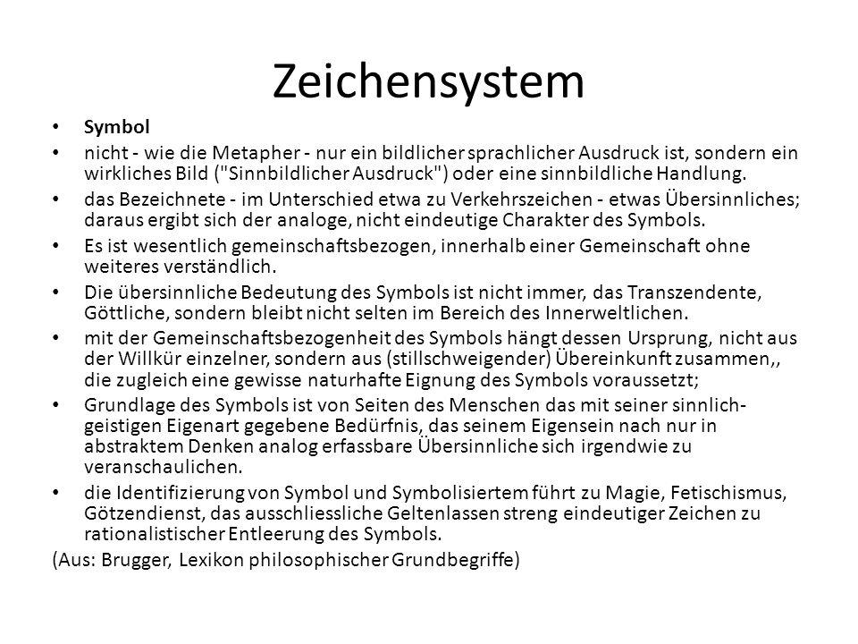 Zeichensystem Symbol.