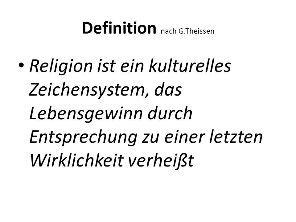 Definition nach G.Theissen