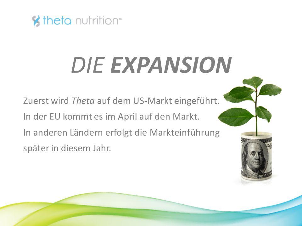 DIE EXPANSION Zuerst wird Theta auf dem US-Markt eingeführt.