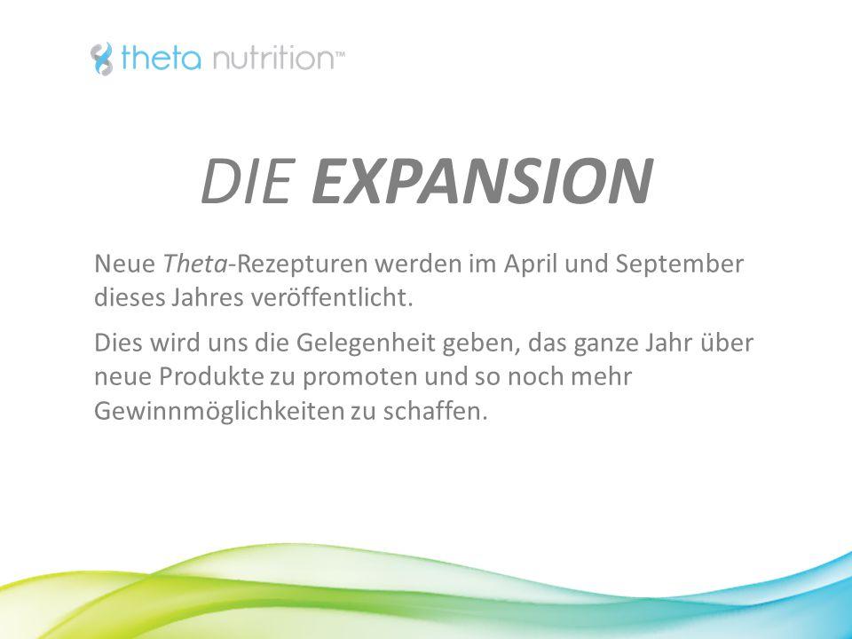 1616 DIE EXPANSION. Neue Theta-Rezepturen werden im April und September dieses Jahres veröffentlicht.