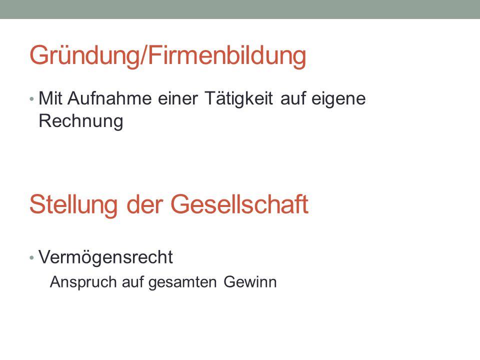 Gründung/Firmenbildung