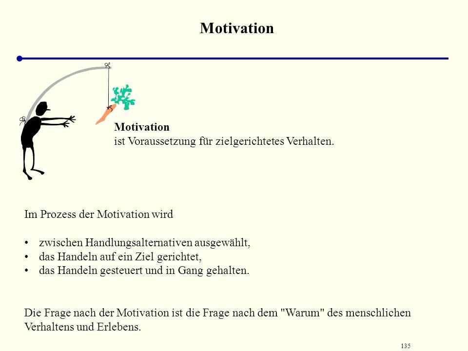 Motivation Motivation ist Voraussetzung für zielgerichtetes Verhalten.
