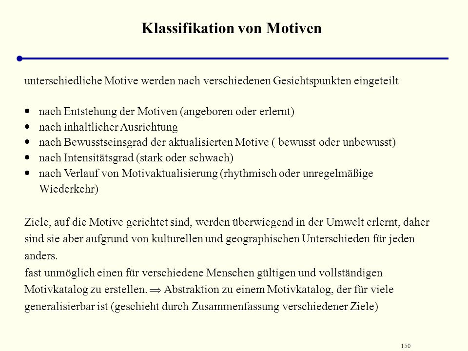 Klassifikation von Motiven