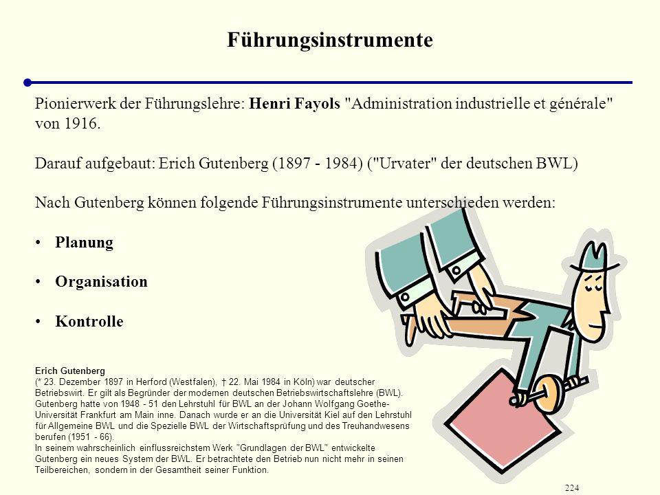 Führungsinstrumente Pionierwerk der Führungslehre: Henri Fayols Administration industrielle et générale von 1916.