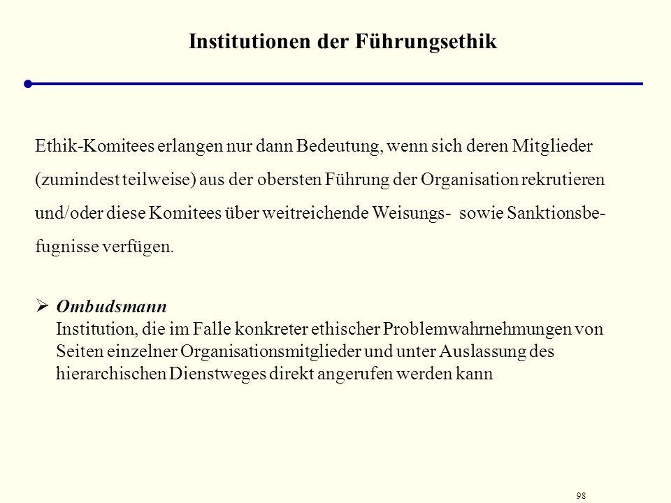 Institutionen der Führungsethik