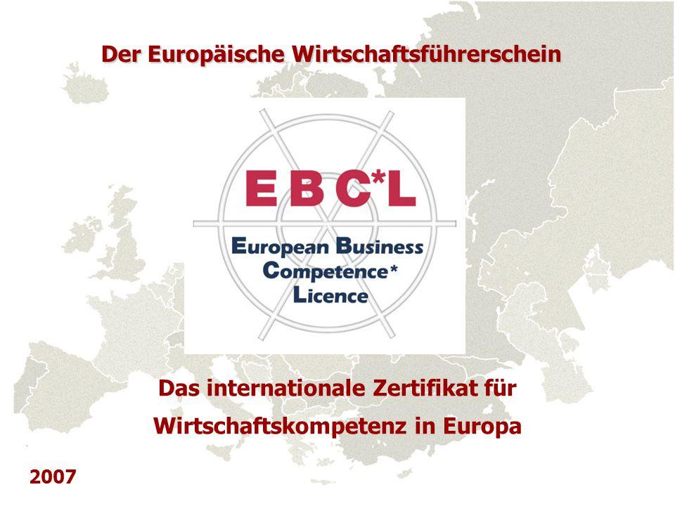 Das internationale Zertifikat für Wirtschaftskompetenz in Europa