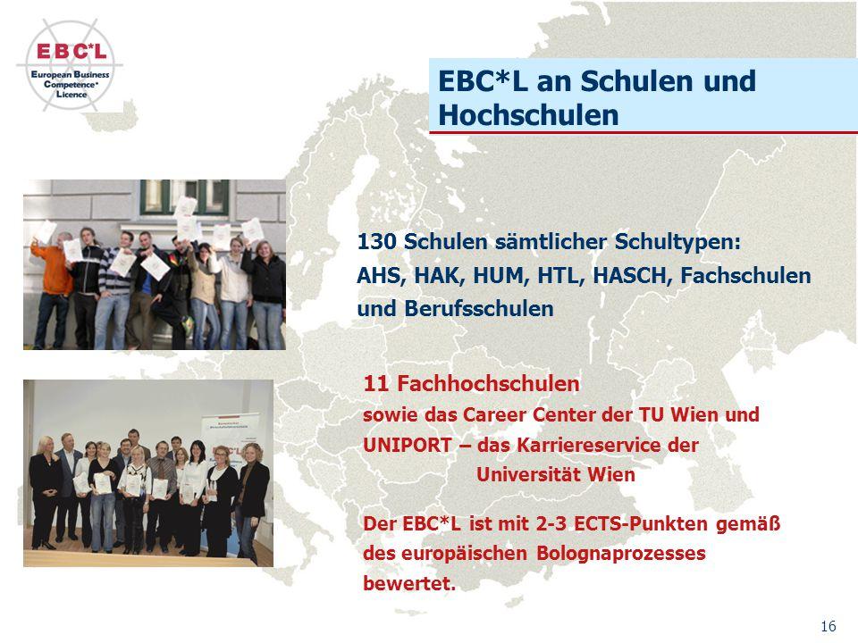 EBC*L an Schulen und Hochschulen