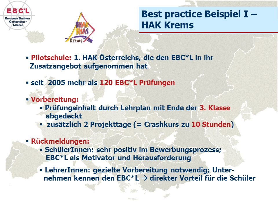 Best practice Beispiel I – HAK Krems Train the Trainer - Seminar