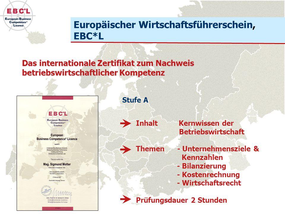 Europäischer Wirtschaftsführerschein, EBC*L