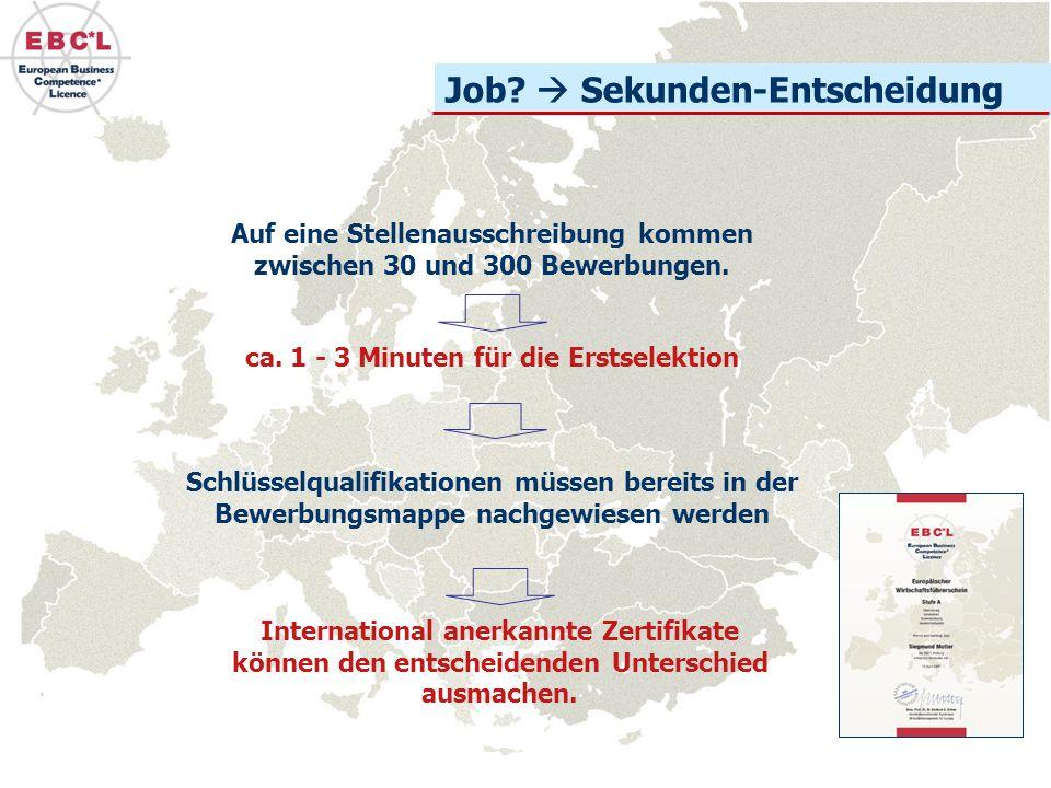 Auf eine Stellenausschreibung kommen zwischen 30 und 300 Bewerbungen.