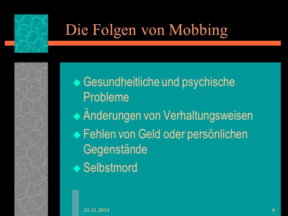 Die Folgen von Mobbing Gesundheitliche und psychische Probleme