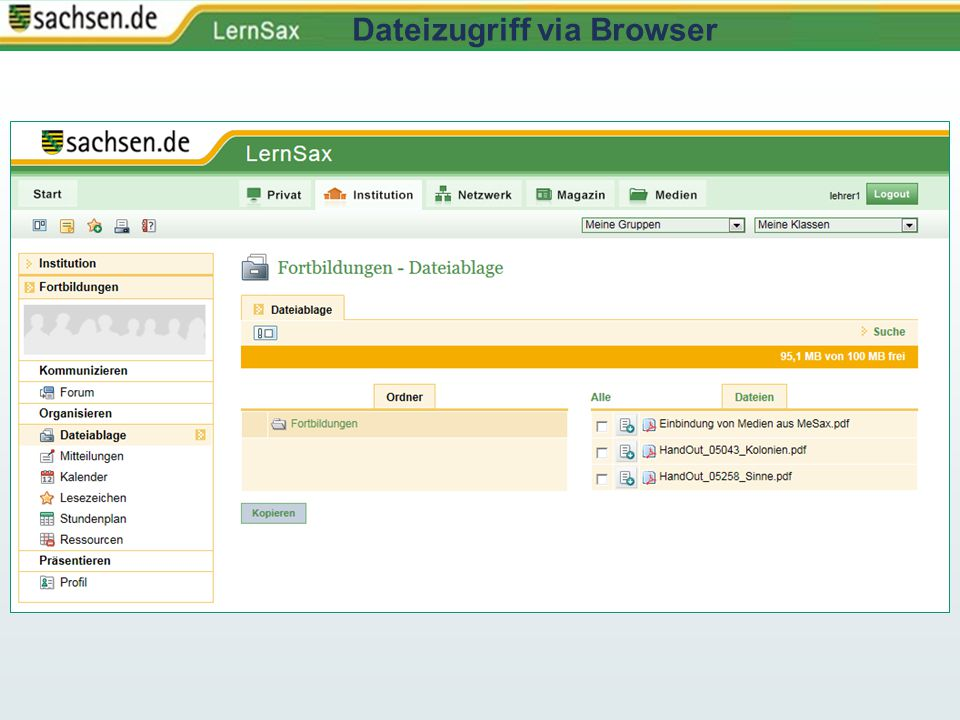 Dateizugriff via Browser