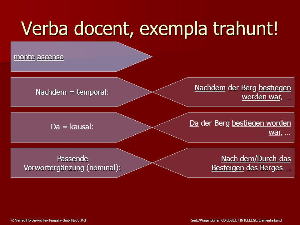 Verba docent, exempla trahunt!