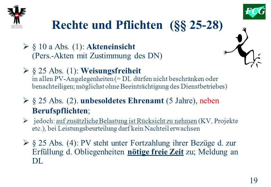 Rechte und Pflichten (§§ 25-28)