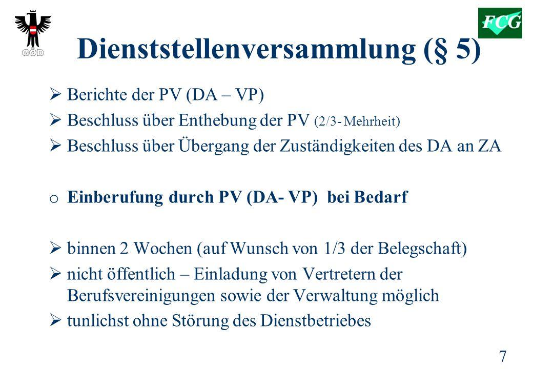 Dienststellenversammlung (§ 5)