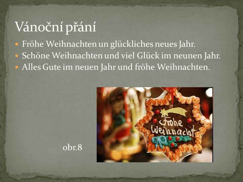 Vánoční přání Fröhe Weihnachten un glückliches neues Jahr.