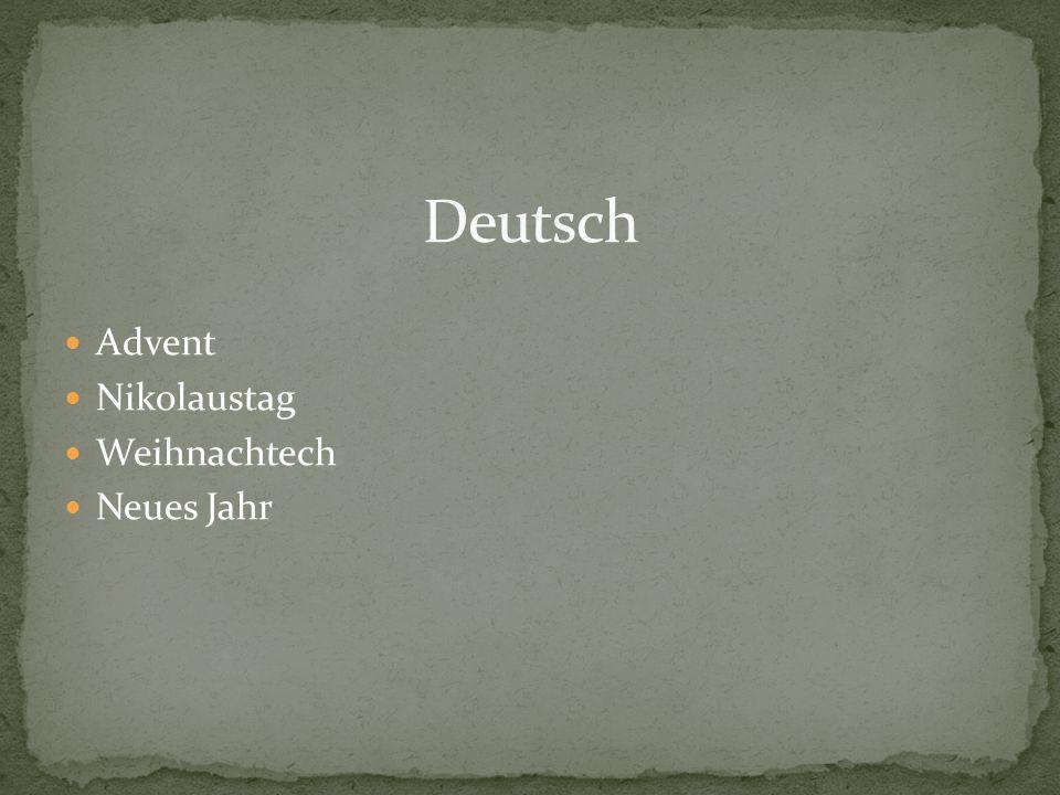 Deutsch Advent Nikolaustag Weihnachtech Neues Jahr
