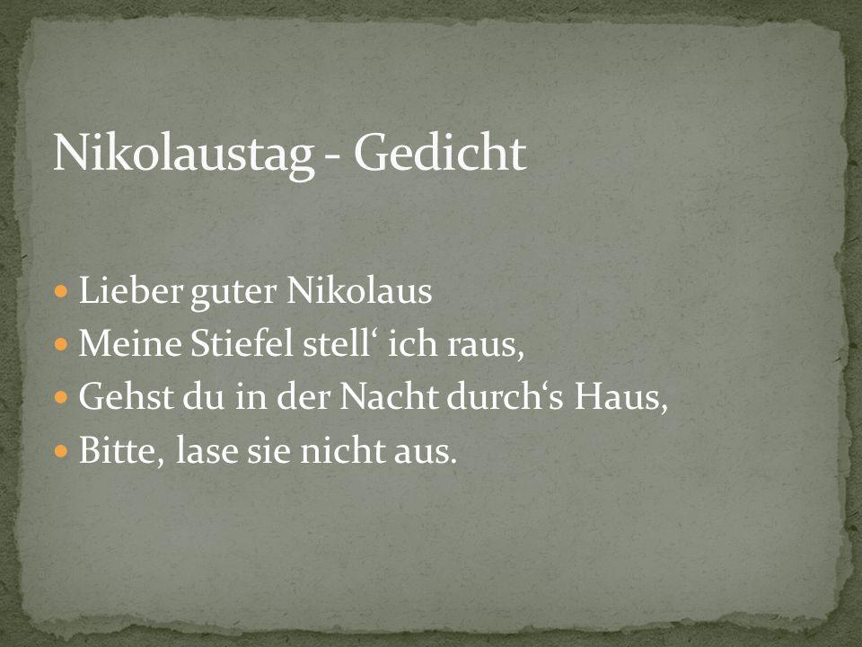 Nikolaustag - Gedicht Lieber guter Nikolaus