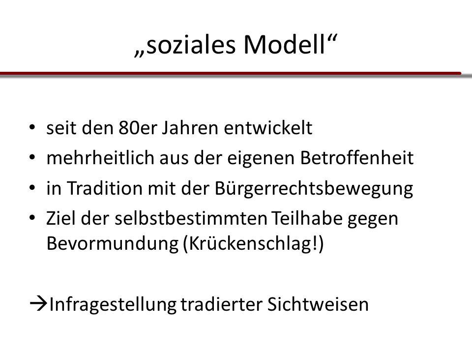 """""""soziales Modell seit den 80er Jahren entwickelt"""