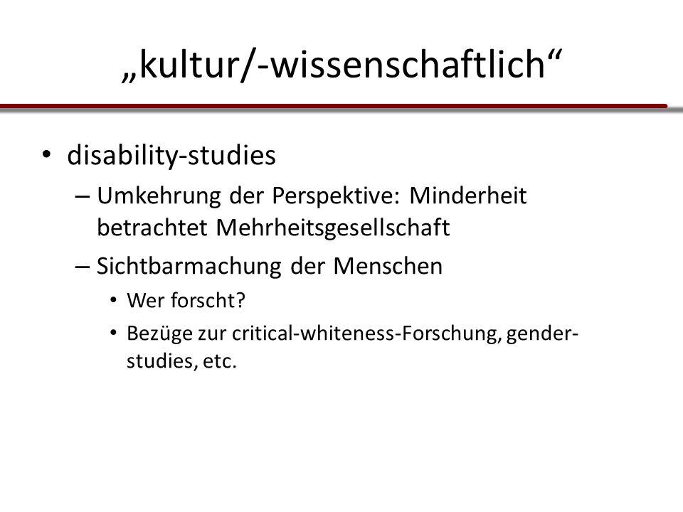 """""""kultur/-wissenschaftlich"""