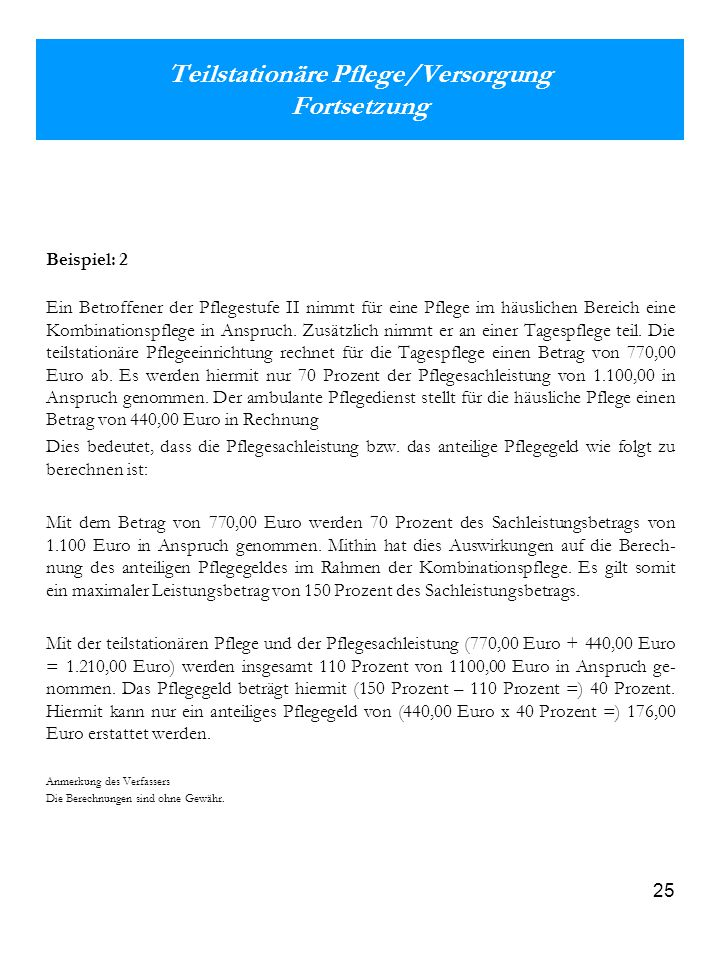 Pflegestufe Berechnen : eine pr sentation der sozialen pflegeversicherung helmut nischwitz ppt herunterladen ~ Themetempest.com Abrechnung