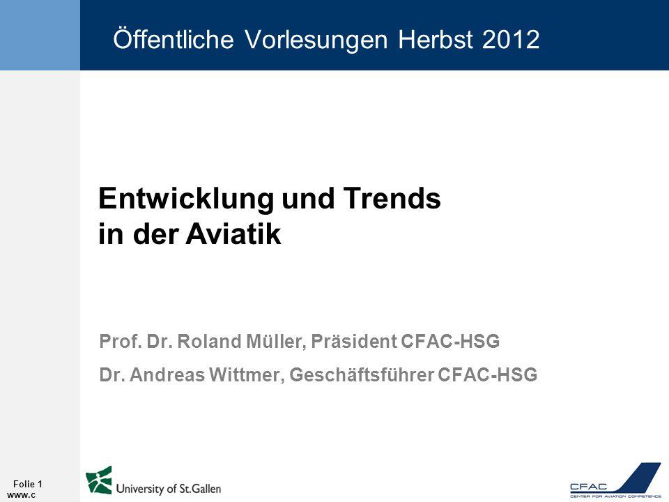 Öffentliche Vorlesungen Herbst 2012
