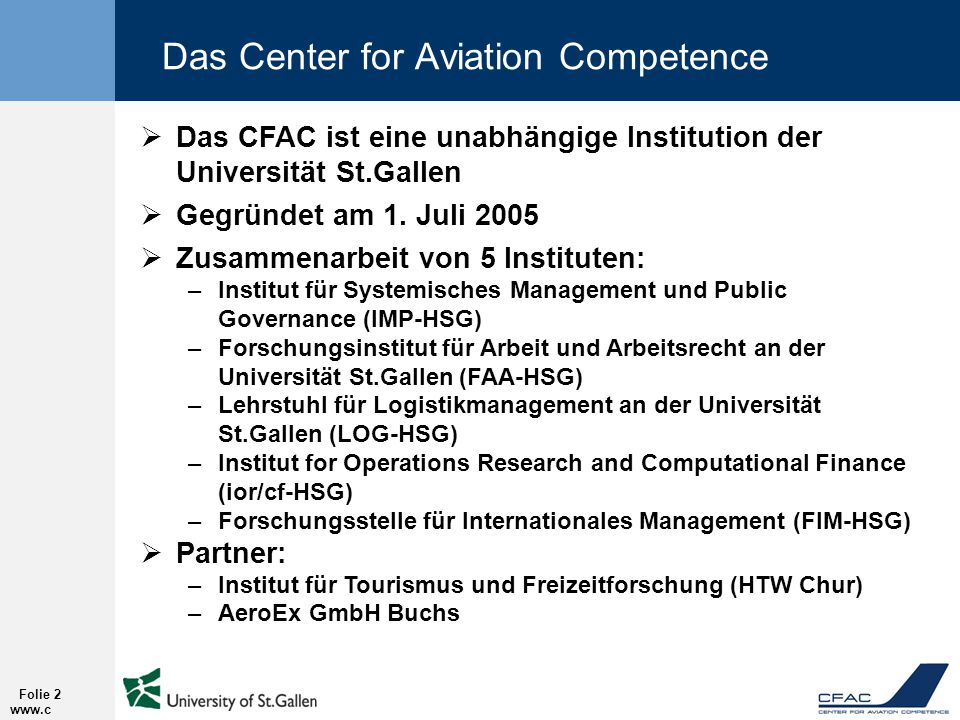 Das Center for Aviation Competence