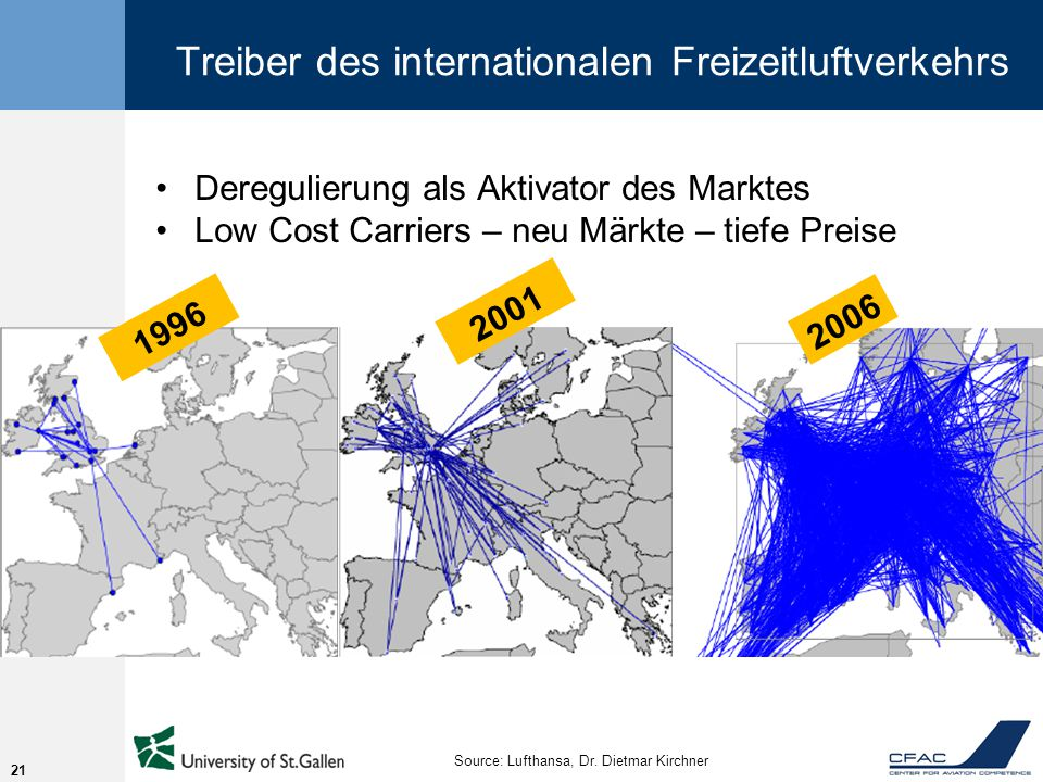 Treiber des internationalen Freizeitluftverkehrs