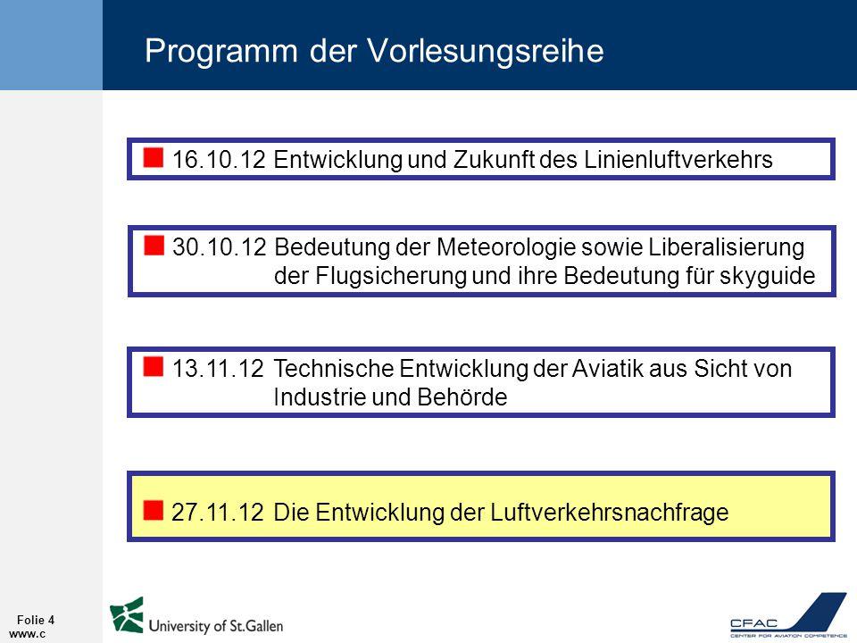 Programm der Vorlesungsreihe