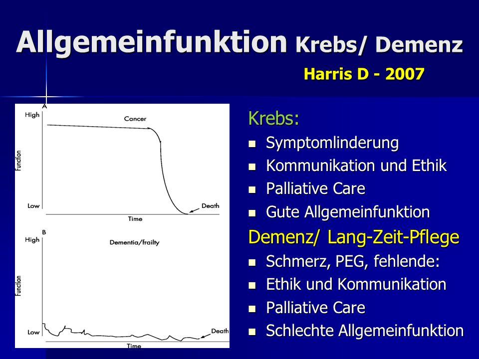 Allgemeinfunktion Krebs/ Demenz Harris D - 2007