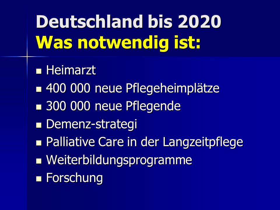 Deutschland bis 2020 Was notwendig ist: