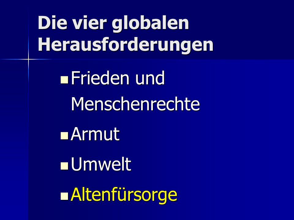 Die vier globalen Herausforderungen