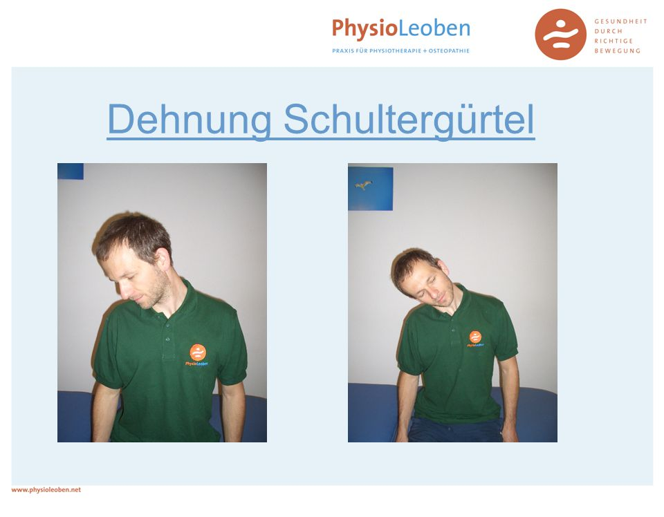 Dehnung Schultergürtel
