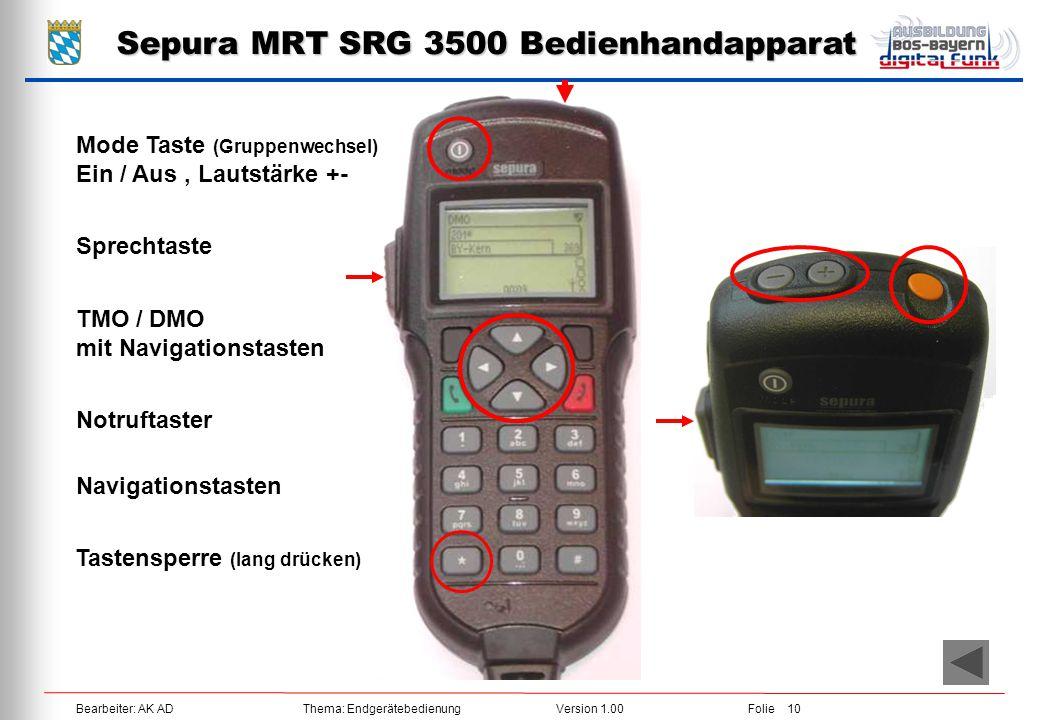Sepura MRT SRG 3500 Bedienhandapparat