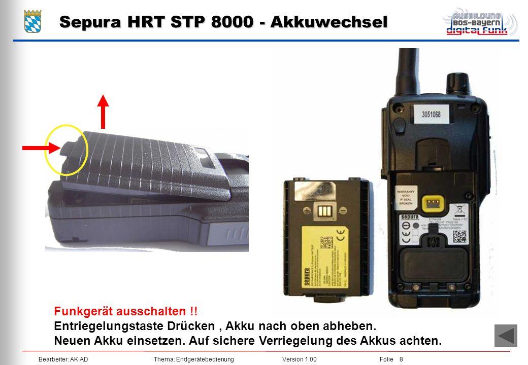 Sepura HRT STP 8000 - Akkuwechsel