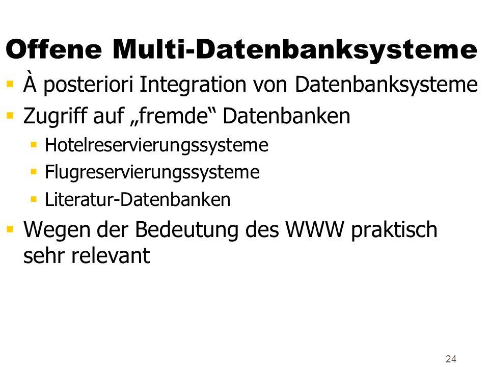 Offene Multi-Datenbanksysteme