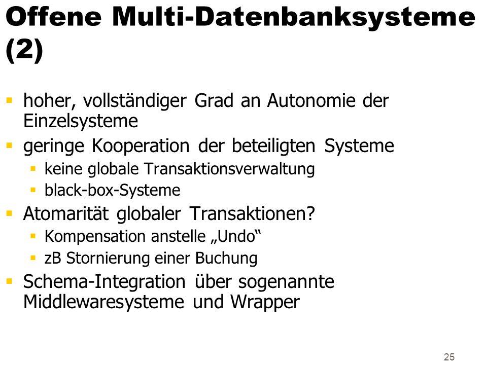 Offene Multi-Datenbanksysteme (2)