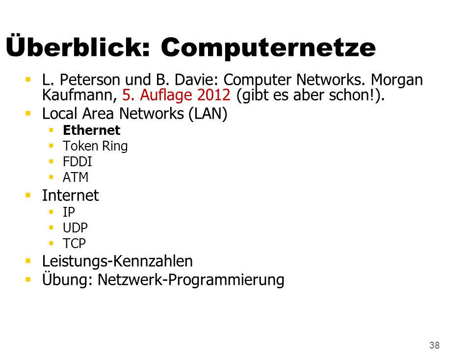 Überblick: Computernetze