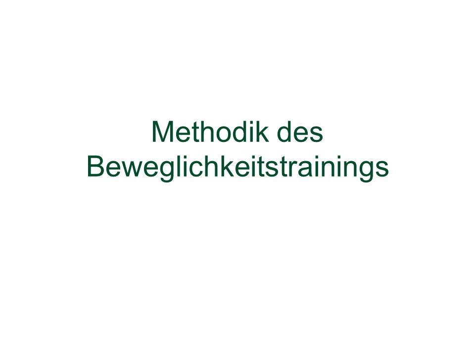 Methodik des Beweglichkeitstrainings