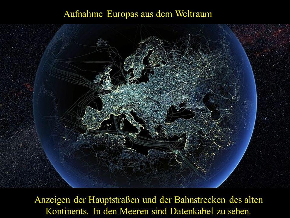 Aufnahme Europas aus dem Weltraum