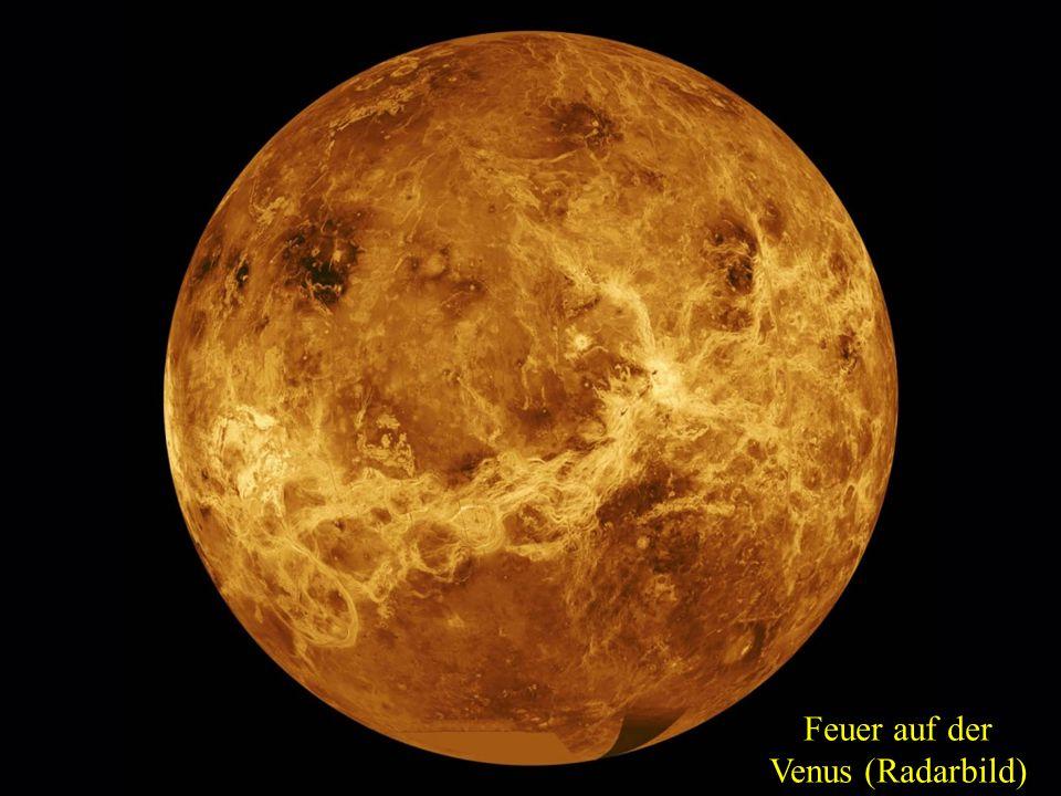 Feuer auf der Venus (Radarbild)