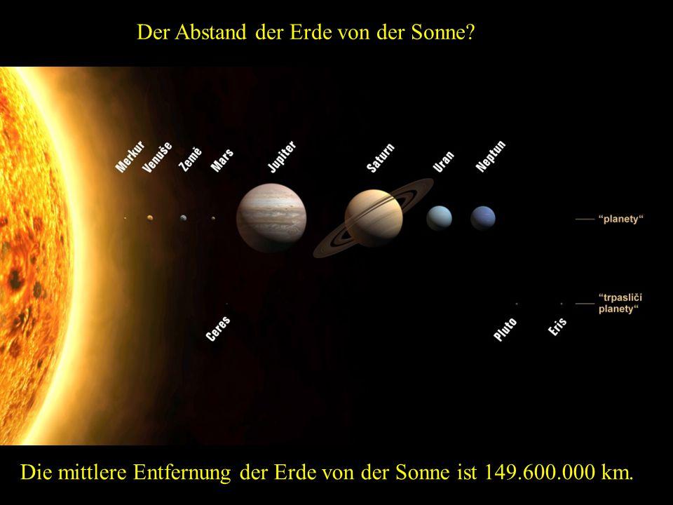 Der Abstand der Erde von der Sonne