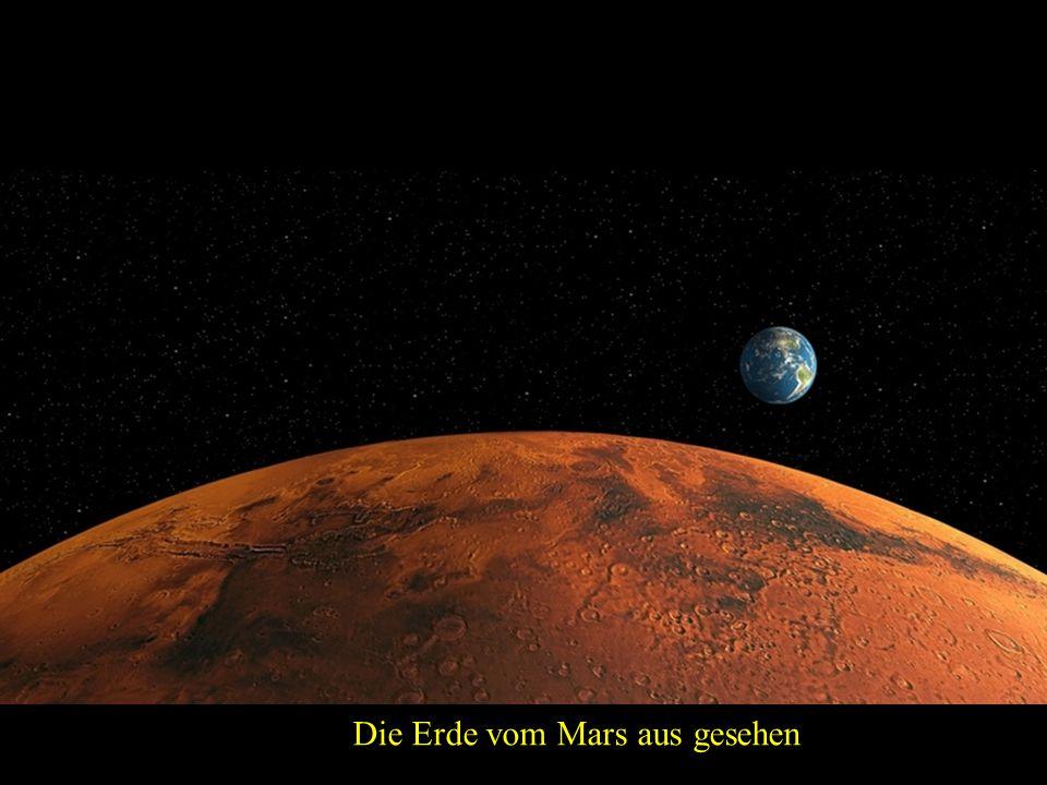 Die Erde vom Mars aus gesehen