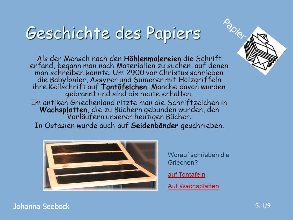 Geschichte des Papiers
