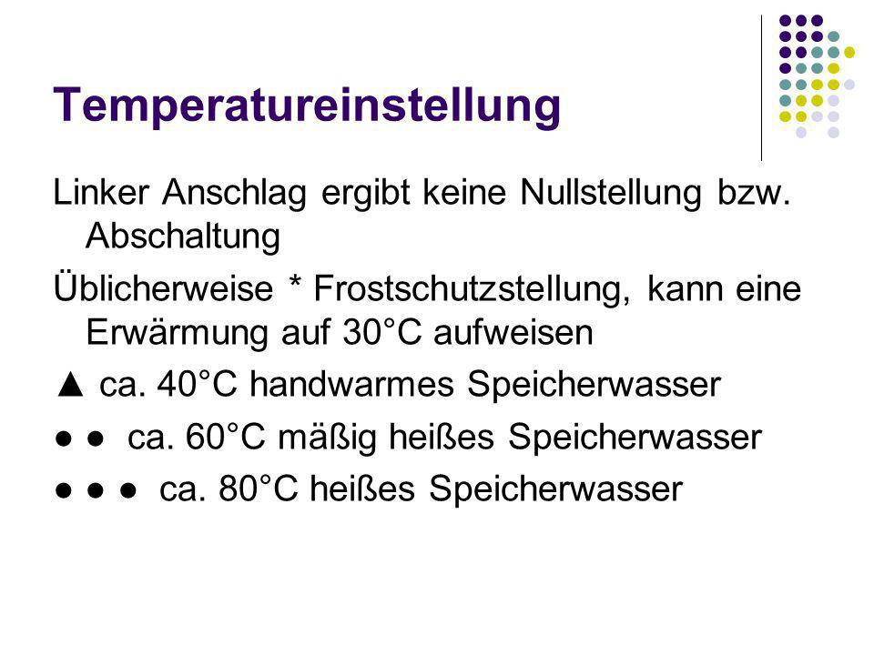Temperatureinstellung
