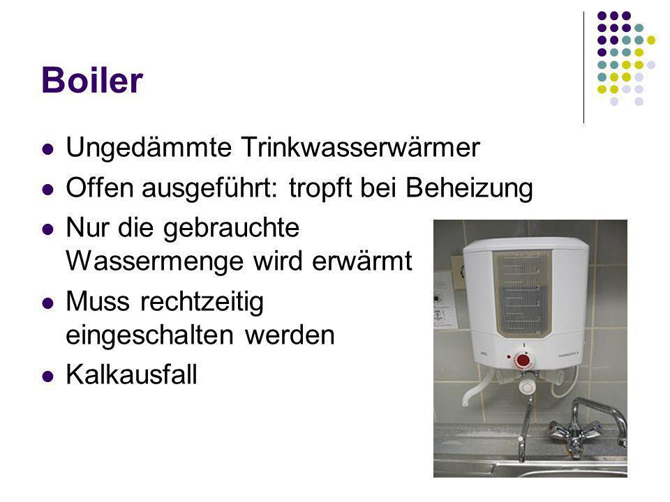 Boiler Ungedämmte Trinkwasserwärmer