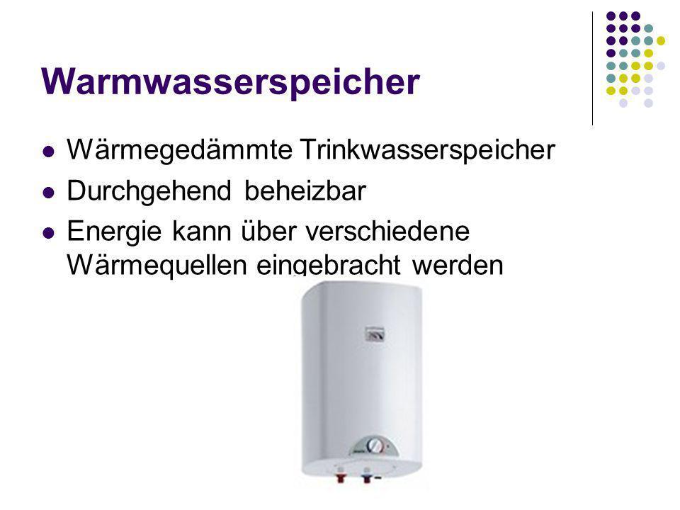 Warmwasserspeicher Wärmegedämmte Trinkwasserspeicher