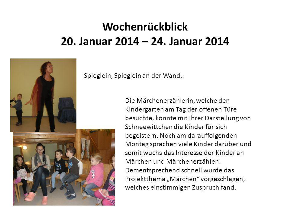 Wochenrückblick 20. Januar 2014 – 24. Januar 2014