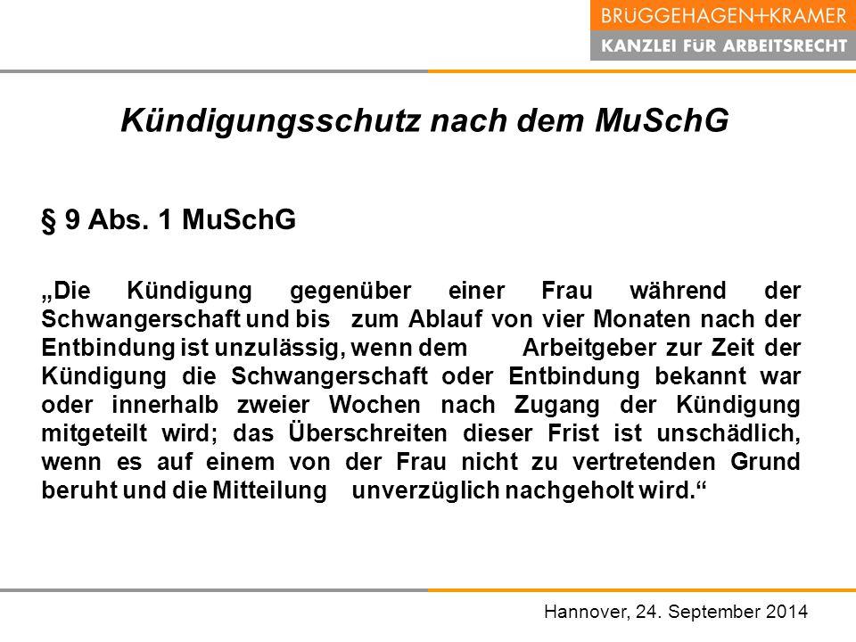 Kündigungsschutz nach dem MuSchG