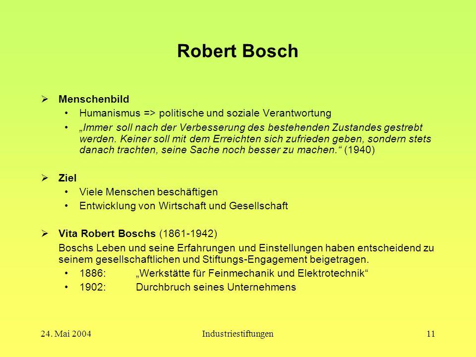 Robert Bosch Menschenbild